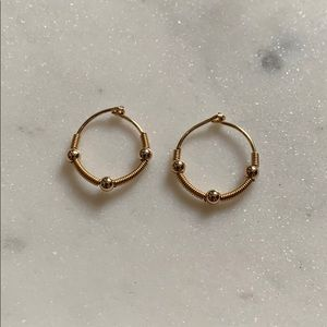 Brass Small Hoop Earrings